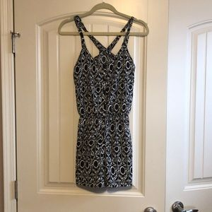 River Island black and white patterned romper